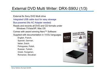 External DVD Multi Writer: DRX-S90U (1/3) - MDS