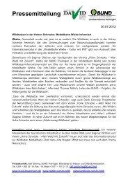 2012 07 30 PM Wildkatzen in der Hohen Schrecke - Rettungsnetz ...