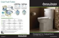 Designed to Outperform Dual Flush Toilets - American Standard