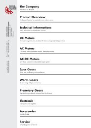 The Company Product Overview Technical Informations DC Motors ...