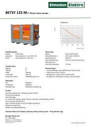 """BETSY 125 M6"""" Diesel motor pumpe. - Elmodan Elektro"""