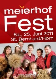 Sa., 25. Juni 2011 St. Bernhard/Horn - Meierhof