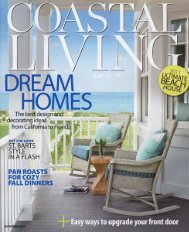 Coastal Living October 2011 - Exquisite Surfaces