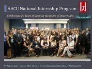 HACU National Internship Program - Hispanic Association of ...