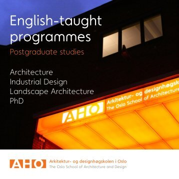 our brochure on postgraduate programmes in English.