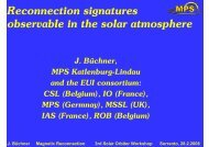 Reconnection signatures observable in the solar atmosphere