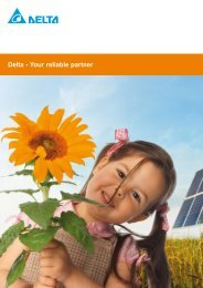 Delta - Your reliable partner - Delta Energy Systems