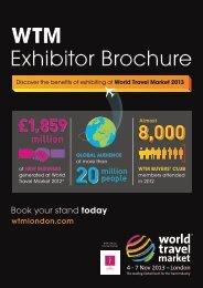 WTM Exhibitor Brochure - World Travel Market