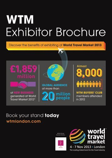 WTM Exhibitor Brochure - World Travel Market