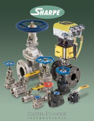 Smith-Cooper international® • (800) 766-0076 ... - Sharpe® Valves