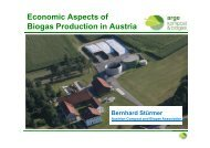 Economic Aspects of Biogas Production in Austria - Biogasheat