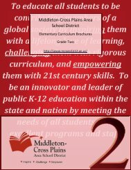 Second grade curriculum guide - Middleton Cross Plains Area ...