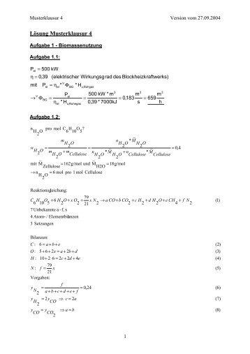 Lösung Musterklausur 4