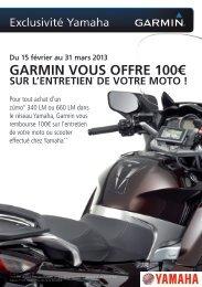 Formulaire de participation - Yamaha