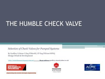 The Humble Check Valve [PDF] - PipingDesign.com