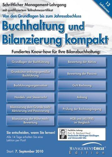 Schriftlicher Lehrgang: Buchhaltung und Bilanzierung kompakt ...
