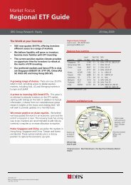 Regional ETF Guide - the DBS Vickers Securities Equities Research