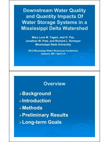 Download the presentation - Water Resources Research Institute ...