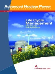 Life Cycle Management - AREVA