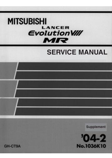 SERVICE MANUAL - LIL EVO