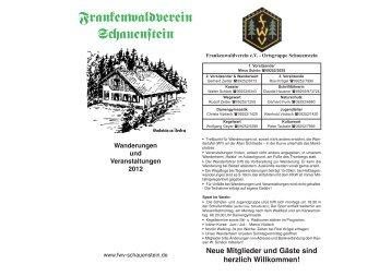 FWV Kalender 2012 DIN A4 - Frankenwaldverein