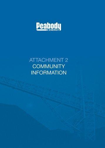 ATTACHMENT 2 COMMUNITY INFORMATION - Peabody Energy