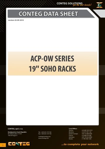 "ACP-OW SERIES 19"" SOHO RACKS - Conteg"