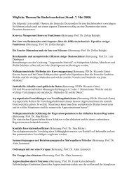 Mögliche Themen für Bachelorarbeiten (Stand: 7. Mai 2008)