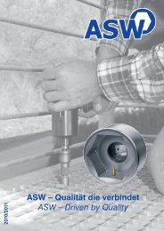 ASW – Qualität die verbindet ASW – Driven by Quality