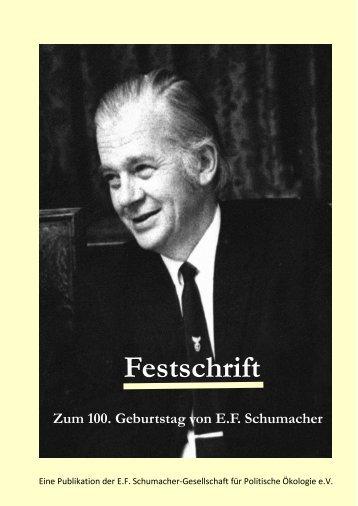 Festschrift - E.F. Schumacher-Gesellschaft für Politische Ökologie e.V.