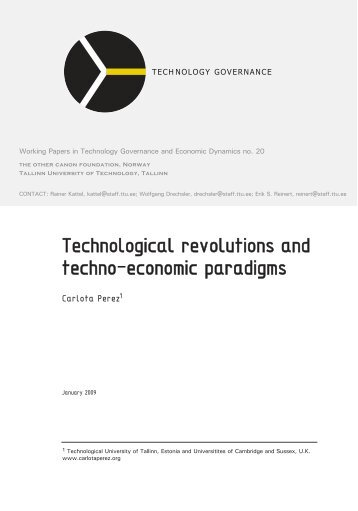 technological paradigms International journal of scientific and research publications, volume 2, issue 12, december 2012 1 issn 2250-3153 wwwijsrporg technological advancement and.
