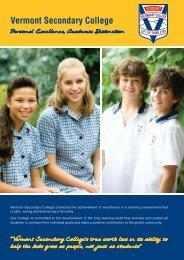 College Brochure - Vermont Secondary College
