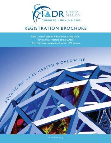 REGISTRATION BROCHURE - IADR/AADR