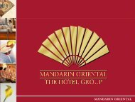 Mandarin Oriental International Limited - Mandarin Oriental Hotel ...