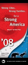 Mayors 10-Point Plan (English) - U.S. Conference of Mayors