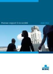 Premier rapport à la société mai 2012 - Award for Best Belgian ...