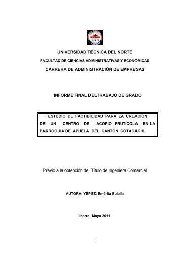 Modelo de gestión administrativo, operativo ... - Repositorio UTN