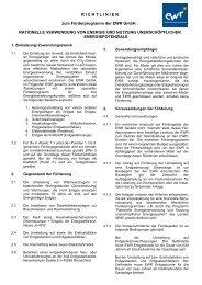 Richtlinien zur Förderung rationeller Energie - EWR GmbH