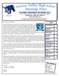 Oct-Nov-Dec Newsltr 11 - Ralston Valley High School
