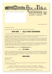 win-win - Aix-Phila Briefmarken GmbH