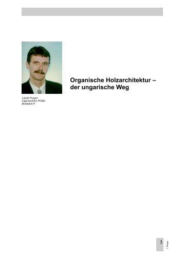 Organische Holzarchitektur - der ungarische Weg - Forum-HolzBau
