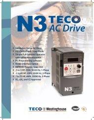 N3 Compact Drive Brochure - TECO-Westinghouse Motor Company