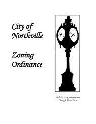 City of Northville Zoning Ordinance