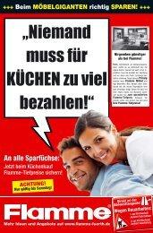 """""""Niemand muss für KÜCHEN zu viel bezahlen!"""" - Flamme Möbel Fürth"""