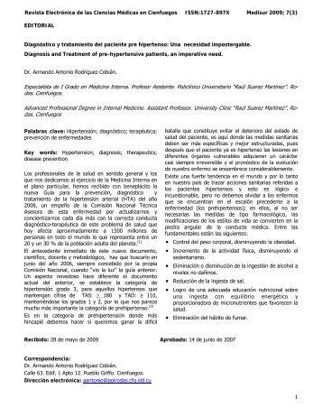 1 Revista Electrónica de las Ciencias Médicas en ... - SciELO