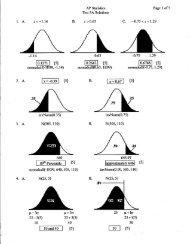Test 3 Solutions - Thomas AP Statistics