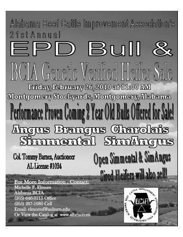 2010 EPD Sale Catalog Front Cover.pub - AL BCIA