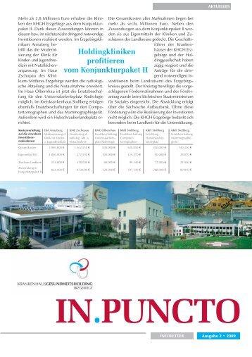 Ausgabe 2/2009 - Krankenhaus-Gesundheitsholding Erzgebirge ...
