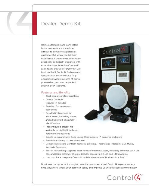 Dealer Demo Kit - Control4