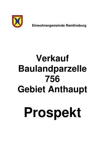 Baulandverkauf Parzelle 756 - Ramlinsburg